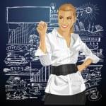 donna d'affari vettoriale — Vettoriale Stock
