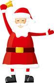 Santa bell ile vektör — Stok Vektör