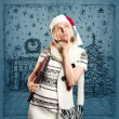 Woman Waiting For Christmas — Stock Photo