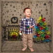 Baby in Christmas — Stock Photo