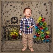 Baby in Christmas — ストック写真