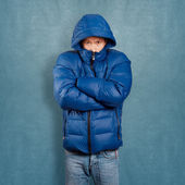 Asian Man in Coat — Stock Photo