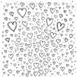 Background with hearts — 图库矢量图片