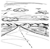 Natuur landschap — Stockvector