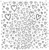 Background with hearts — Stock Vector