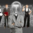 Business Team With Lamp Head — Stock Photo #35169537