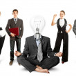 Business Team With Lamp Head — Foto de Stock