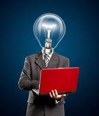 Business Lamp Head Man — Stock Photo