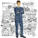 Businessman In Suit — Stock Vector #35169553
