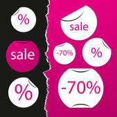 Sale stickers — Vector de stock