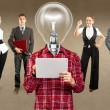 Business Team With Lamp Head — Stock Photo #35652627