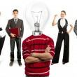 Business Team With Lamp Head — 图库照片