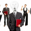 Business Team With Lamp Head — Lizenzfreies Foto