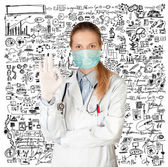 Doctor Woman with Face Mask — Stock Photo