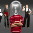 Business Team With Lamp Head — Stock Photo #36988423