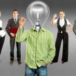 Business Team With Lamp Head — Stock Photo #36988441