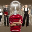 Business Team With Lamp Head — Stock Photo #36988449