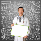 Doctor with Empty Board — Stock Photo