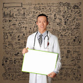 Doctor with Empty Board — 图库照片