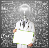 Lamp Head Doctor Man — Fotografia Stock
