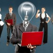 Business Team With Lamp Head — Stock Photo #39203595