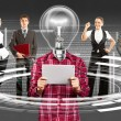 Business Team With Lamp Head — Stock Photo #39203667