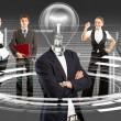 Business Team With Lamp Head — Stock Photo #39203691