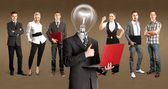 Business Team With Lamp Head — Photo