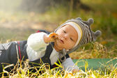 Baby Outdoors — Stock Photo