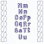Vector Sketch Book Letters — ストックベクタ
