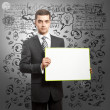 Stock Photo: Business Mwith Empty Write Board