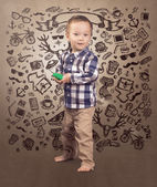 Hipster baby boy — Foto Stock