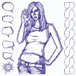 Sketch Cute Woman Shows OK — Stock Vector #41906235