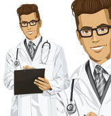 Hipster doctor man — Stock Vector