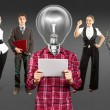 Stockfoto: Business Team With Lamp Head