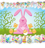 Vector Easter Card — Stock Vector