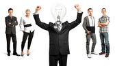 Business Team With Lamp Head — Fotografia Stock