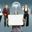 Business Team With Lamp Head — Stock Photo #46219809