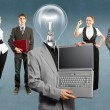 Business Team With Lamp Head — Stock Photo #46219815