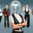 Business Team With Lamp Head — Stock Photo #46219825