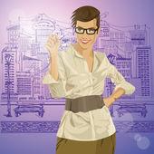 Hipster Businesswoman — Stock Vector