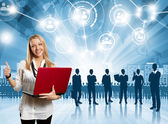 Businesswoman Employer — Stock Photo