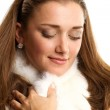 Woman with furs — Stock Photo #7318249