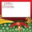 2012 vector christmas card with bells — Stock Vector #7587782