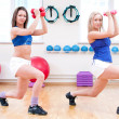 Women do stretching exercise — Foto de Stock