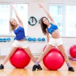Women do stretching exercise — Stock Photo