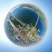 Widok miasta z lotu ptaka — Zdjęcie stockowe