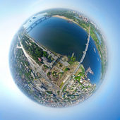 Aerial city view — Stock Photo