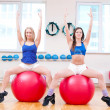 Women do stretching exercise - ストック写真