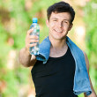 Man drinking water after fitness — Stock Photo #19954197